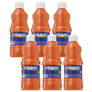 (6 Ea) Prang Washable Paint 16oz Orange