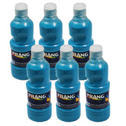 (6 Ea) Prang Washable Paint 16oz Turquoise