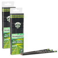 (2 Pk) Pencils No 2 Soft Black Pack Of 24 Ticonderoga Unsharpened