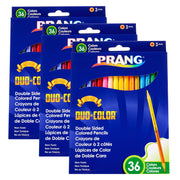 (3 St) Prang Duo Color Pencils 36 Color St