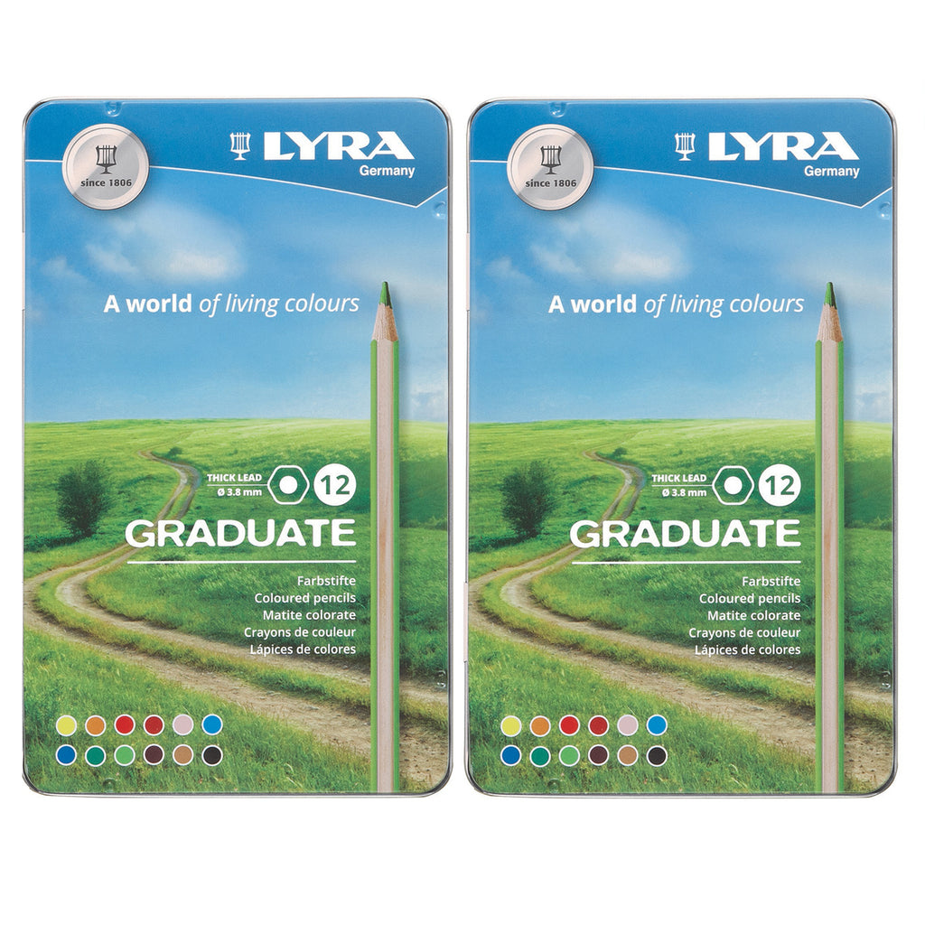 (2 Bx) Graduate Colored Pencils Metal 12bx Lyra