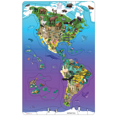 Wildlife Puzzle North South America