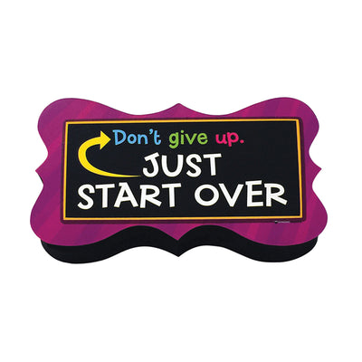 Magnetic Whiteboard Eraser Start Over Quote