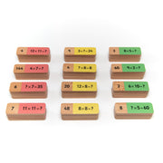 Wooden Multiplication Dominoes