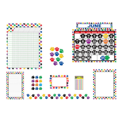 Colorful Paw Print Set For Classrooms - Student Spotlight