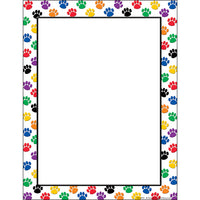 Colorful Paw Print Set For Classrooms