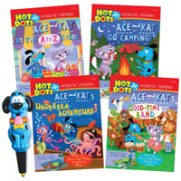 Hot Dots Jr 4 Book & Pen Set