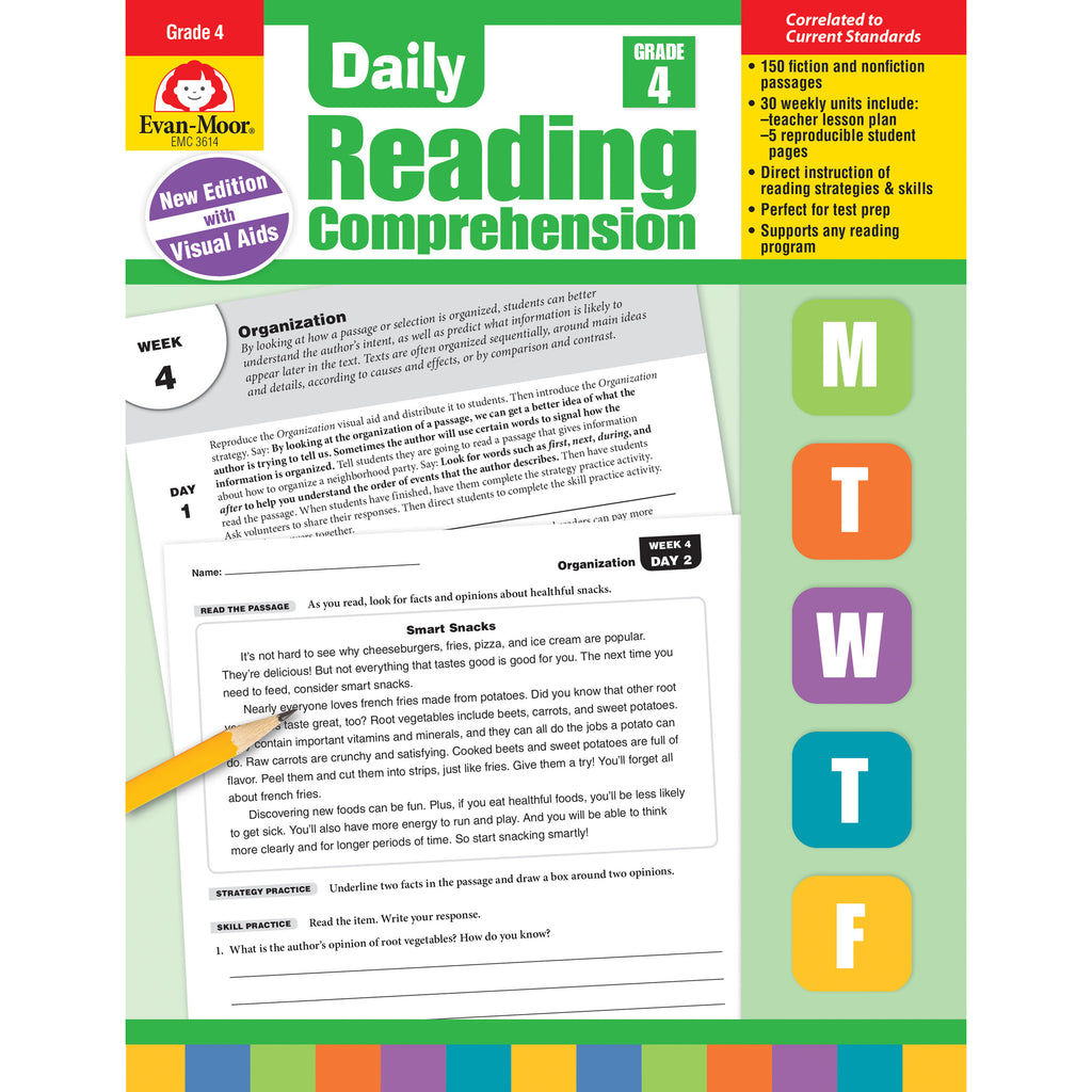 Daily Reading Comprehension Gr 4 - Student Spotlight