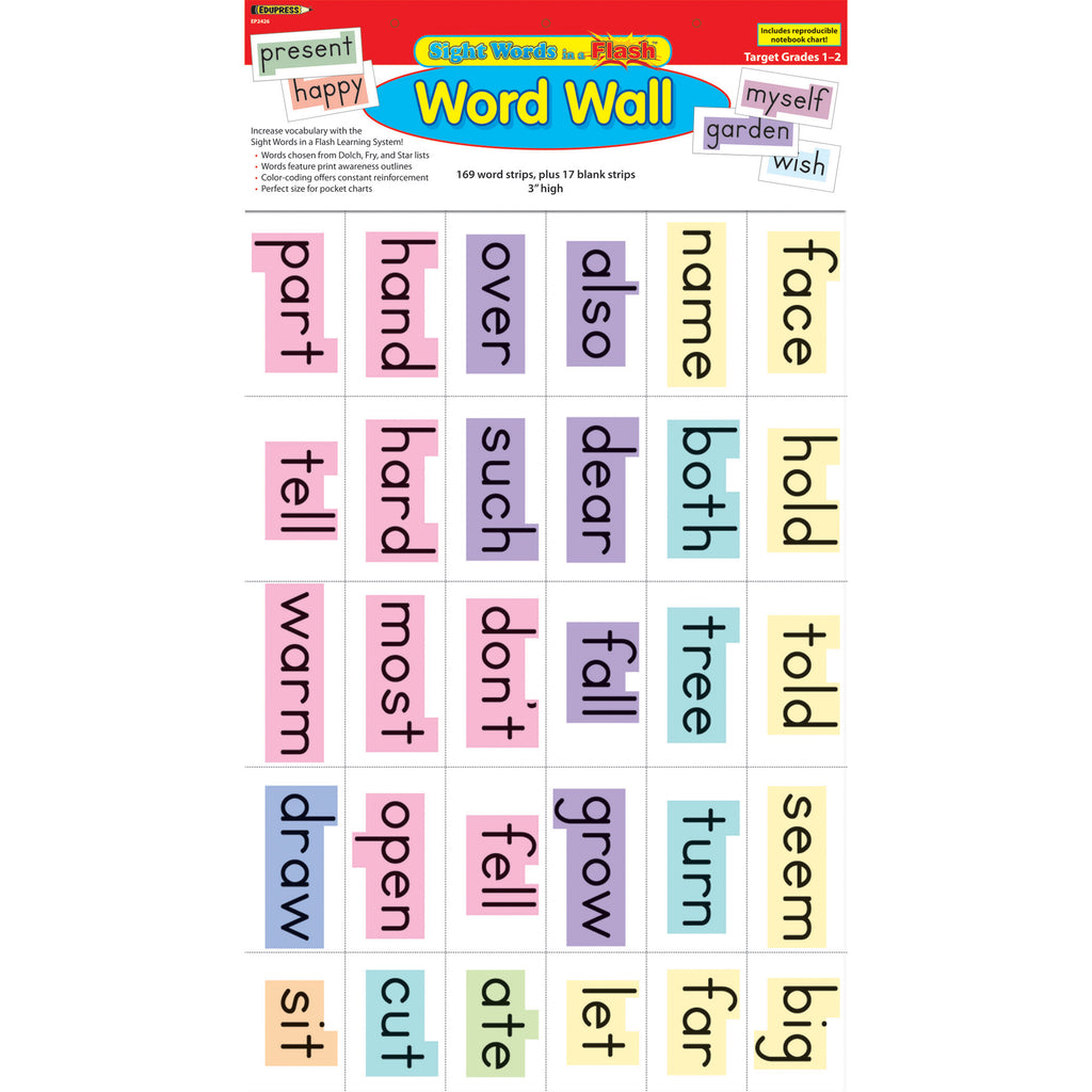(2 St) Sight Words In A Flash Gr 1-2 Word Walls