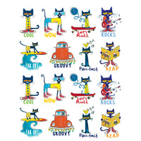 (12 Pk) Pete The Cat Stickers