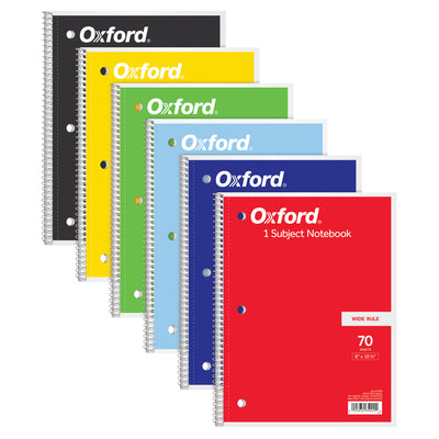 Oxford 1 Subject Notebook 70 Sheets Wide Rule - Student Spotlight