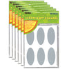 (6 Pk) Scratch Off Stickers Ovals