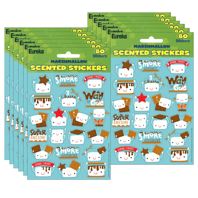 (12 Pk) Marshmallow Scented Stickers