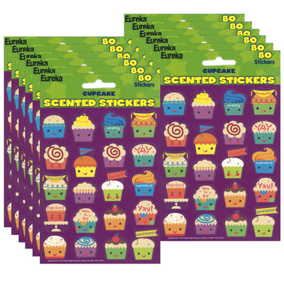(12 Pk) Cupcake Scented Stickers