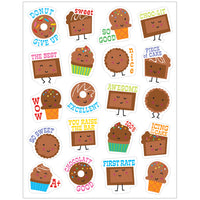 (12 Pk) Chocolate Stickers Scented - Student Spotlight