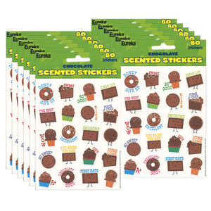 (12 Pk) Chocolate Stickers Scented