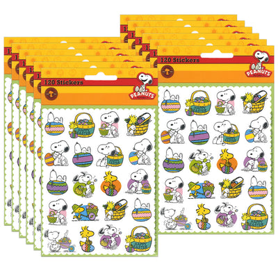 (12 Pk) Peanuts Easter Theme Stickers