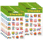 (12 Pk) Birthday Theme Stickers