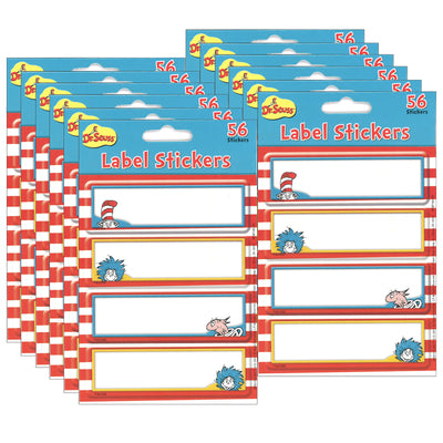(12 Pk) Dr. Seuss Label Stickers