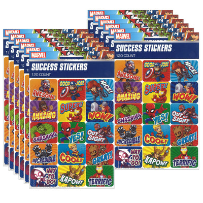 (12 Pk) Marvel Super Hero Adventur Stickers Success