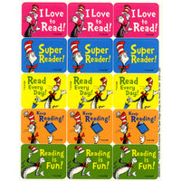 (12 Pk) Cat In The Hat Reading Success Stickers