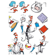 (12 Pk) Cat In The Hat Characters 12x17 Window Clings
