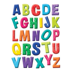 (12 Ea) Color My World Alphabet Win Dow Clings