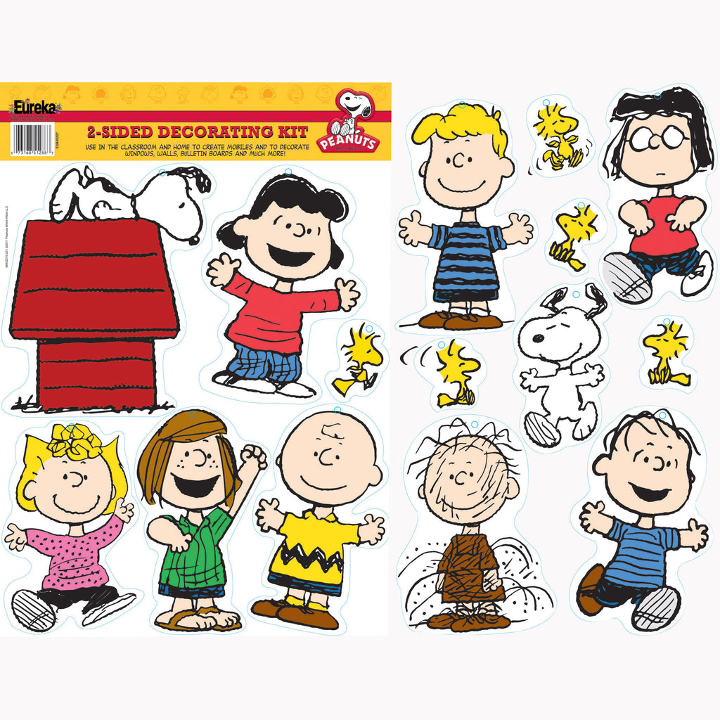 (6 Pk) Peanuts Classic Character 2 Sided Deco Kit