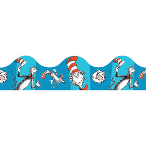 (6 Pk) Cat In The Hat Blue Deco Trim