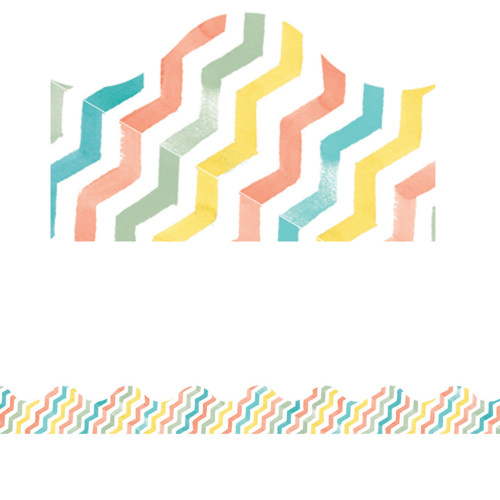 (12 Pk) Confetti Splash Chevron Deco Trim