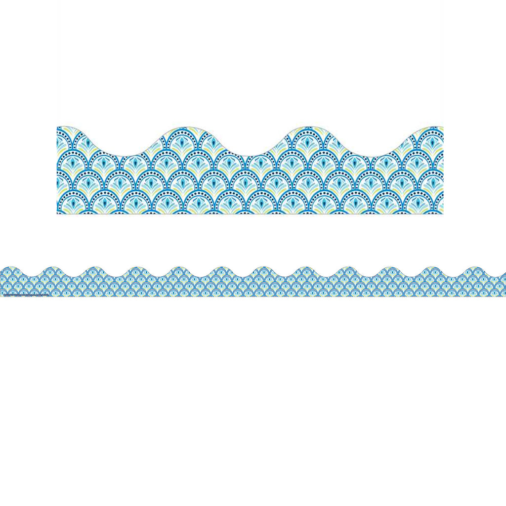 BLUE HARMONY PEACOCK DECO TRIM