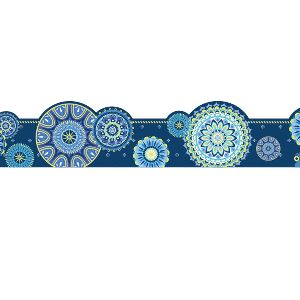 BLUE HARMONY MANDALA EX WIDE TRIM