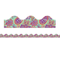 (6 Pk) Mint Paisley Deco Trim Positively Paisley