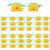 (6 Pk) Sun & Clouds Diecut Deco Trim Extra Wide