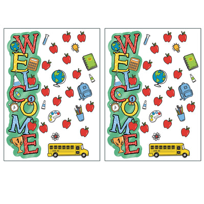 (2 Pk) Back To School Welcome Door D�cor Kit