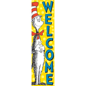 (3 Ea) Vertical Banner Cat In The Hat Welcome