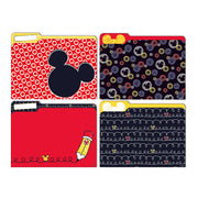 (6 Pk) Mickey Clr Pop File Folders
