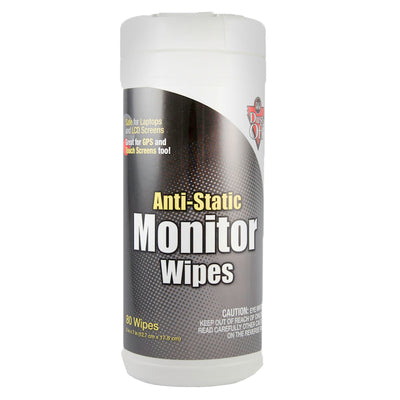 (3 Ea) Anti Static Monitor Wipes 80 Count Canister
