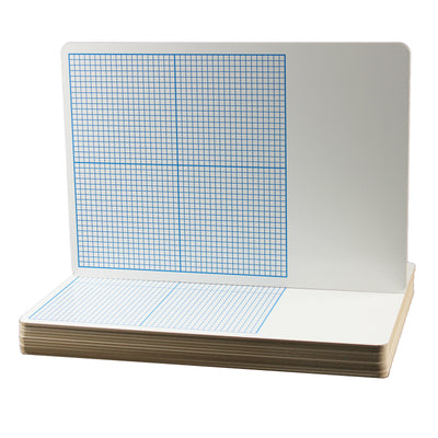 Flipside 12pk 1-4in Graph Dry Erase Boards Class Pack 11 X 16