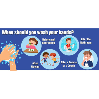 When To Wash Your Hands Wall Stickers 5pk