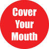 Cover Your Mouth Red Antislip Floor Sticker 5pk