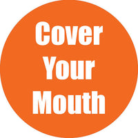 Cover Your Mouth Orange Anti-slip Floor Sticker 5pk