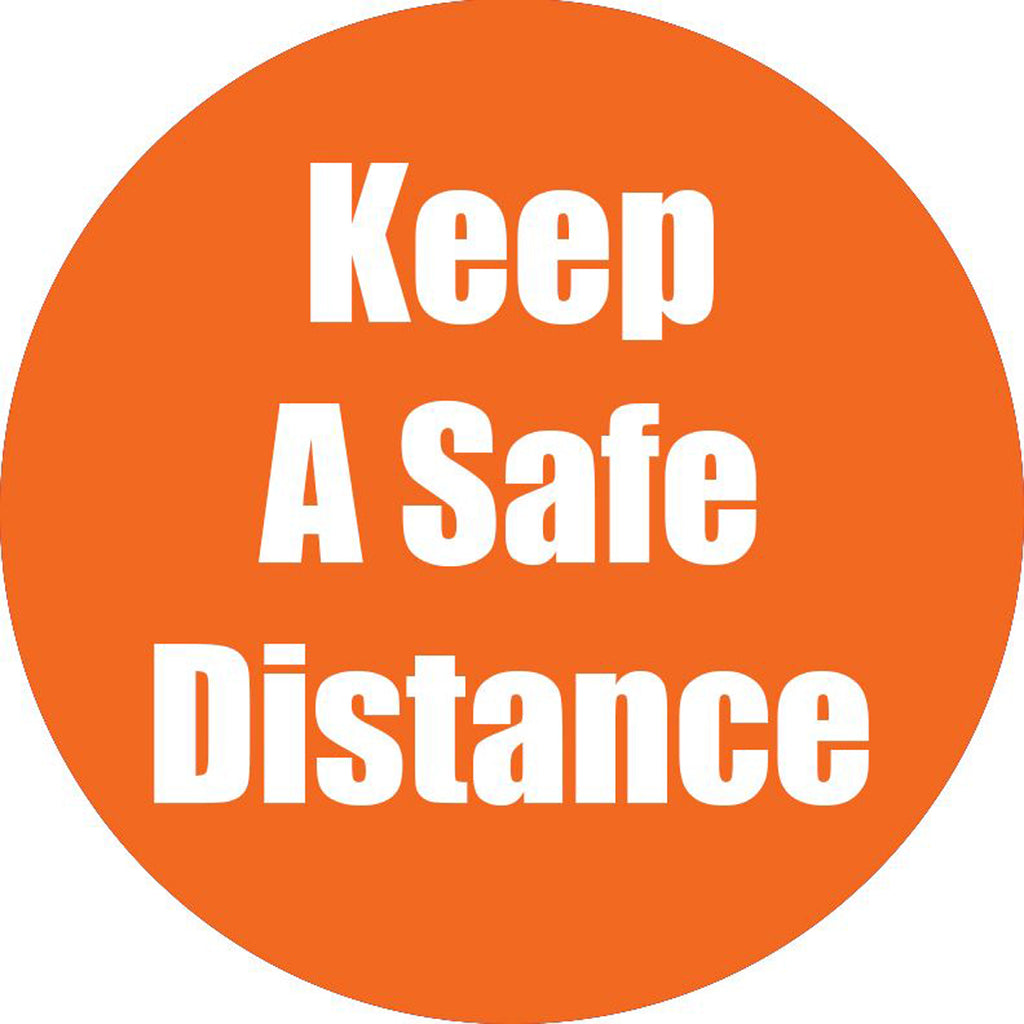 Keep A Safe Distance Ornge Antislip Floor Sticker 5pk