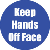 Keep Hands Off Face Blue Anti-slip Floor Sticker 5pk