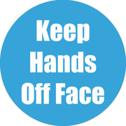 Keep Hands Off Face Cyan Anti-slip Floor Sticker 5pk
