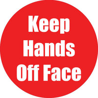 Keep Hands Off Face Red Anti-slip Floor Sticker 5pk