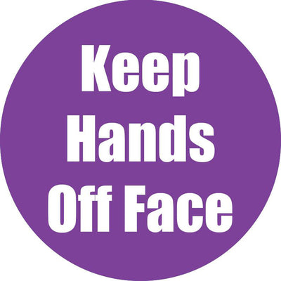 Keep Hands Off Face Purple Antislip Floor Sticker 5pk
