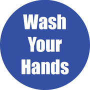 Wash Your Hands Blue Floor Sticker 5pk