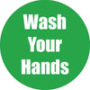 Wash Your Hands Green Anti-slip Floor Sticker 5pk