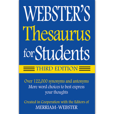 (3 Ea) Websters Thesaurus For Students